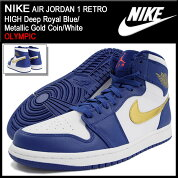 �ʥ���NIKE���ˡ�������������ѥ������硼����1��ȥ�ϥ�DeepRoyalBlue/MetallicGoldCoin/White�����ԥå�(nikeAIRJORDAN1RETROHIGHOLYMPICBRANDJORDAN�֥롼��SNEAKERMENS�������塼��SHOES332550-406)icefiledicefield