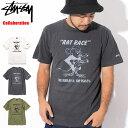 ステューシー STUSSY Tシャツ 半袖 メンズ Bob Marley Rat Race Pigment Dyed コラボ(ピグメント ティーシャツ T-SHIRTS カットソー トップス ボブ・マーリー Wネーム メンズ 男性用 3903308 USAモデル 正規 品 ストゥーシー スチューシー)[M便 1/1]