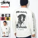 ステューシー STUSSY Tシャツ 長袖 メンズ Bob Marley The Wailers Pigment Dyed コラボ(ピグメント ティーシャツ T-SHIRTS カットソー トップス ロング ロンティー ロンt ボブ・マーリー Wネーム メンズ 男性用 3993310 ストゥーシー スチューシー)