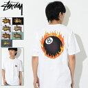 ステューシー STUSSY Tシャツ 半袖 メンズ Fireball(stussy tee ティーシャツ T-SHIRTS カットソー トップス メンズ・男性用 1904225 USAモデル 正規 品 ストゥーシー スチューシー)[M便 1/1]