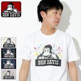 ベンデイビス BEN DAVIS Tシャツ 半袖 メンズ ペイント アイコン ロゴ(BENDAVIS C-8580022 Paint Icon Logo S/S Tee ティーシャツ T-SHIRTS カットソー トップス ベン・デイビス ベンデービス)[M便 1/1]