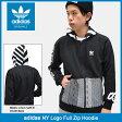 アディダス adidas パーカー ジップアップ メンズ NY ロゴ オリジナルス(adidas NY Logo Full Zip Hoodie Originals フード フルジップ Zip up Hoody Parker トップス メンズ 男性用 BQ0901) ice filed icefield