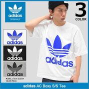 アディダスadidasTシャツ半袖メンズACボクシーオリジナルス(adidasACBoxyS/STeeOriginalsトレフォイルティーシャツT-SHIRTSカットソートップスメンズ男性用BK7174BK7175BK7176)icefiledicefield