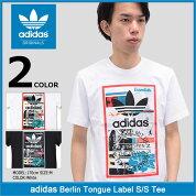 アディダスadidasTシャツ半袖メンズベルリンタンラベルオリジナルス(adidasBerlinTongueLabelS/STeeOriginalsティーシャツT-SHIRTSカットソートップスメンズ男性用BP8985BP8982)icefiledicefield