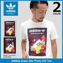 アディダス adidas Tシャツ 半袖 メンズ スーパースター フォト オリジナルス(adidas Super Star Photo S/S Tee Originals ティーシャツ T-SHIRTS カットソー トップス メンズ 男性用 BS3245 BS3239)[M便 1/1] ice filed icefield