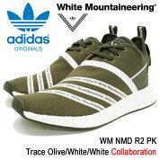 アディダスオリジナルス×WhiteMountaineeringadidasOriginalsbyWhiteMountaineeringスニーカーメンズ男性用WMノマドR2PKTraceOlive/White/Whiteコラボ(WMNMDR2PKホワイトマウンテニアリングオリーブ靴シューズSHOESCG3649)