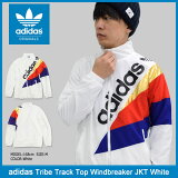 アディダス adidas ジャケット メンズ トライブ トラック トップ ウィンドブレーカー ホワイト オリジナルス(adidas Tribe Track Top Windbreaker JKT White Originals ナイロンジャケット JACKET JAKET アウター メンズ 男性用 BQ2014)