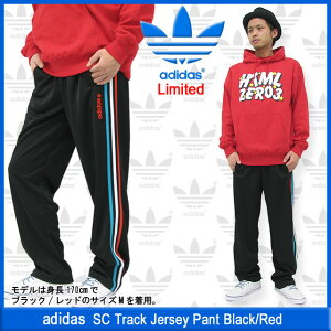 【50%OFF】【限定】adidas SC Track Jersey Pant Black/Red Limited【40時間タイムセール】【50...