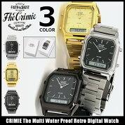 クライミーCRIMIE腕時計メンズザマルチウォータープルーフレトロデジタルウォッチ(crimieTheMultiWaterProofRetroDigitalWatchアナデジ防水時計)icefiledicefield