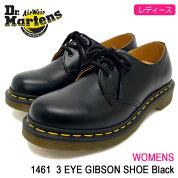 ドクターマーチンDr.Martensブーツ3ホールレディース女性用ウィメンズ14613アイギブソンシューズブラック(DR.MARTENSWOMENS14613EYEGIBSONSHOEBlackドクターマーチンBOOTSドクター・マーチンマーティンワークブーツ靴・ブーツR11837002)