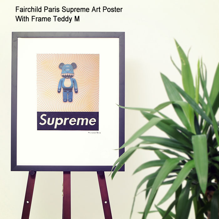バッグ・小物・ブランド雑貨, その他  Fairchild Paris M ( Fairchild Paris Supreme Art Poster With Frame Teddy M KAWS Toy Blue Bear SUP8-16 )I
