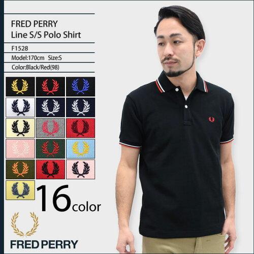 フレッドペリー FRED PERRY ポロシャツ メンズ 半袖 ライン 半袖ポロ 日本製 男性用 (FREDPERRY F1...