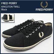 �ե�åɥڥFREDPERRY���ˡ�������������ѥ����ȥ�ĥ���Black(FREDPERRYSB6259U-A36KINGSTONTWILL�֥�å���SNEAKERMENS�������塼��SHOES�ե�åɥڥ�ե�åɡ��ڥ)icefiledicefield