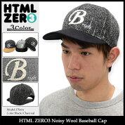 エイチティエムエルゼロスリーHTMLZERO3キャップメンズノイジーウールベースボールキャップ(htmlzero3NoisyWoolBaseballCapスナップバック帽子エイチティーエムエル)icefiledicefield