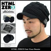 エイチティエムエルゼロスリーHTMLZERO3ニット帽フェイトバイザービーニー(htmlzero3FateVisorBeanie帽子ニットキャップエイチティーエムエル)icefiledicefield