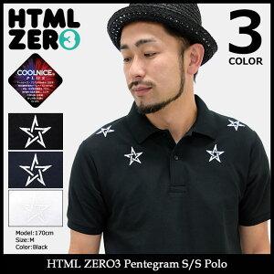【送料無料】エイチティエムエルゼロスリーHTMLZERO3ポロシャツ半袖メンズペンタグラム(htmlzero3PentagramS/SPoloポロトップスエイチティーエムエル)icefiledicefield