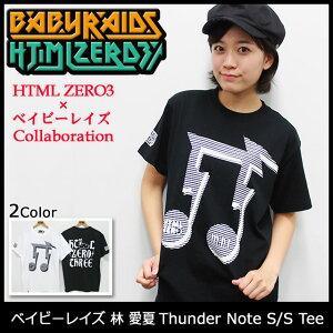 【オフィシャルコラボ】HTML ZERO3×ベイビーレイズ 林 愛夏 Thunder Note S/S Tee Collaborati...