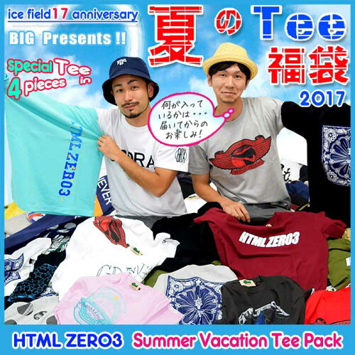 エイチティエムエル ゼロスリー HTML ZERO3 Summer Vacation Tシャツ 福袋 2017 エイチティーエム...