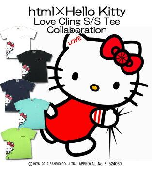 エイチ・ティー・エム・エル html×ハローキティ ラブ クリング Tシャツ 半袖 コラボ(HTML×Hello Kitty Love Cling S/S Tee Collaboration)
