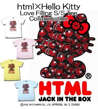 エイチ・ティー・エム・エル html×ハローキティ ラブ フィリング Tシャツ 半袖 コラボ(HTML×Hello Kitty Love Filling S/S Tee Collaboration)