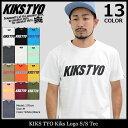 キックス ティー・ワイ・オー KIKS TYO Tシャツ 半袖 メンズ キックス ロゴ(Kiks Tyo Kiks Logo S/S Tee ティーシャツ T-SHIRTS カットソー トップス KIKSTYO kiks・tyo キックスティーワイオー KT1709T-02)[M便 1/1] ice filed icefield