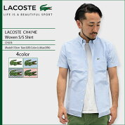 �饳����LACOSTE�����Ⱦµ���CH474E�����֥�(lacosteCH474EWovenS/SShirt���å����ե����ɥ���ĥ����奢�륷��ĥȥåץ�)icefiledicefield05P27May16