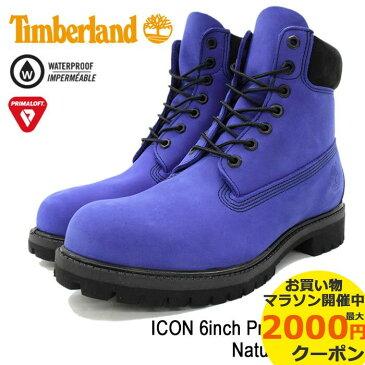 【日本正規品】ティンバーランド Timberland ブーツ メンズ 男性用 アイコン 6インチ プレミアム Natural Pullman(timberland A1M64 ICON 6inch Premium Boot ブルー 青 防水 男性 紳士用 MENS・靴 メンズ靴)