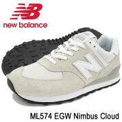 ニューバランスnewbalanceスニーカーメンズ男性用ML574EGWNimbusCloud(newbalanceML574EGWホワイト白SNEAKERMENS・靴シューズSHOESML574-EGW)icefiledicefield