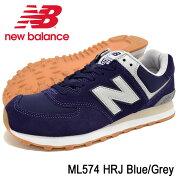 ニューバランスnewbalanceスニーカーメンズ男性用ML574HRJBlue/Grey(newbalanceML574HRJブルー青SNEAKERMENS・靴シューズSHOESML574-HRJ)icefiledicefield