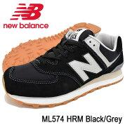 ニューバランスnewbalanceスニーカーメンズ男性用ML574HRMBlack/Grey(newbalanceML574HRMブラック黒SNEAKERMENS・靴シューズSHOESML574-HRM)icefiledicefield