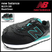 �˥塼�Х��newbalance���ˡ��������������ML574SIBBlack/Green(NEWBALANCEML574SIB�֥�å���SNEAKERMENS�������塼��SHOESML574-SIB)icefiledicefield