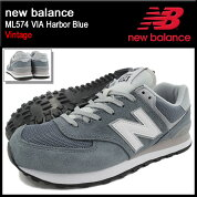 �˥塼�Х��newbalance���ˡ��������������ML574VIAHarborBlue(NEWBALANCML574VIAVintageSNEAKERMENS�������塼��SHOESML574-VIA)icefiledicefield
