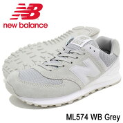 ニューバランスnewbalanceスニーカーメンズ男性用ML574WBGrey(newbalanceML574WBグレー灰SNEAKERMENS・靴シューズSHOESML574-WB)icefiledicefield