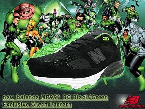 ニューバランスnewbalanceスニーカーMR993BGBlack/GreenExclusiveGreenLanternメンズ(男性用)(newbalanceMR993BGBlack/GreenExclusiveGreenLanternMR993-BG)