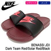 ナイキNIKEサンダルレディース&メンズベナッシJDIDarkTeamRed/SolarRed/Black(nikeBENASSIJDIシャワーサンダルスポーツサンダルSANDALLADIESMENS・靴シューズSHOES343880-601)icefiledicefield