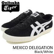 オニツカタイガーOnitsukaTigerスニーカーメンズ男性用メキシコデレゲーションBlack/White(OnitsukaTigerMEXICODELEGATIONブラック黒SNEAKERMENS・靴シューズSHOESD6E7L-9001)icefiledicefield