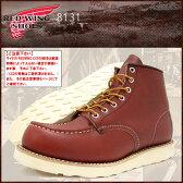 レッドウィング RED WING 8131 6インチ モカシン トゥ ブーツ 赤茶 レザー MADE IN USA アイリッシュセッター メンズ(男性 紳士用)(red wing REDWING レッド ウィング ウイング BOOTS boots レッドウイング レッド・ウィング ワーク ブーツ 靴・ブーツ)
