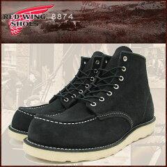 レッドウィング RED WING 8874 6インチ モカシン トゥ ブーツ ブラック レザー MADE IN USA アイリッシュセッター メンズ(紳士用)(red wing REDWING レッド ウィング ウイング BOOTS boots レッドウイング レッド・ウィング ワーク ブーツ 靴・ブーツ)
