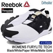 リーボックReebokスニーカーメンズ男性用ウィメンズフューリーライトテックBlack/White/PaperWhite/MatteGold(reebokWOMENSFURYLITETECHブラック黒SNEAKERMENS・靴シューズSHOESAQ9016)icefiledicefield