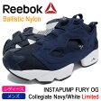 リーボック Reebok スニーカー レディース & メンズ インスタポンプ フューリー OG カレッジエイトネイビー/ホワイト 限定(INSTAPUMP FURY OG Navy/White Ballistic Nylon ポンプフューリー 紺 LADIES MENS・靴 シューズ SHOES V65752)