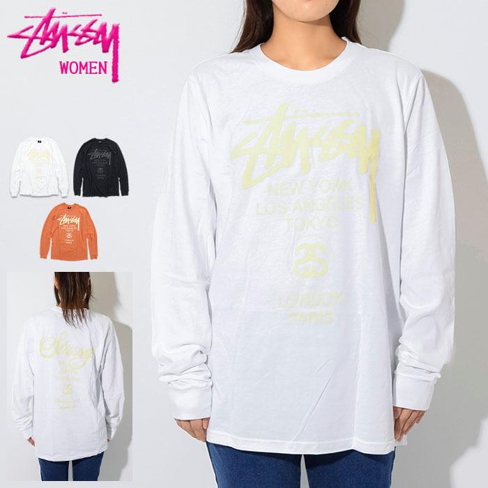 トップス, Tシャツ・カットソー  STUSSY T WOMEN World Tour ( stussy tee t 2992585 USA )