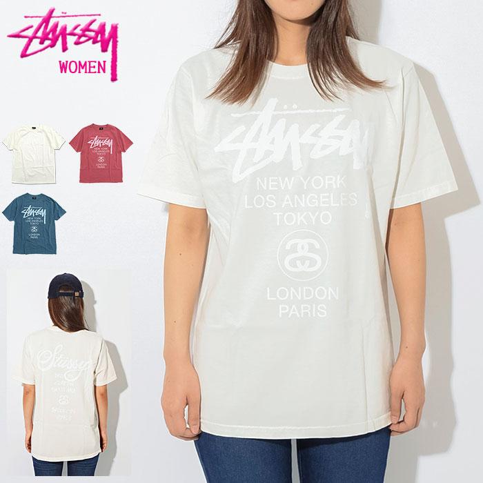 トップス, Tシャツ・カットソー  STUSSY T WOMEN World Tour Pigment Dyed ( stussy tee Ladys 2902995 USA )M 11