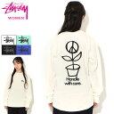 ステューシー STUSSY Tシャツ 長袖 レディース WOMEN Peace Pot Pigment Dyed ( ピグメント ティーシャツ ...