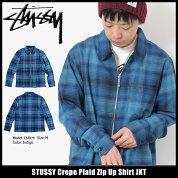ステューシーSTUSSYジャケットメンズCrepePlaidZipUpShirt(stussyJKTプレイドチェックフルジップシャツジャケットJACKETJAKETアウタージャンパー・ブルゾンメンズ・男性用111960ストゥーシースチューシー)icefiledicefield