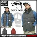 【送料無料】【50%OFF】【コラボ】STUSSY×HOLDEN Packable Down Vest コラボステューシー STUS...