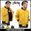 ステューシー STUSSY ジャケット メンズ Flight Satin Bomber(stussy JKT フライト サテン ボンバージャケット JACKET JAKET アウター ジャンパー・ブルゾン メンズ・男性用 115302 ストゥーシー スチューシー) ice filed icefield