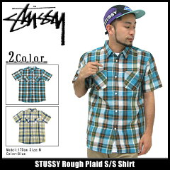 【特別価格】STUSSY Rough Plaid S/S Shirtステューシー STUSSY Rough Plaid シャツ 半袖(stuss...