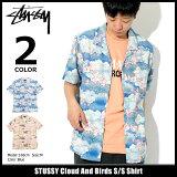ステューシー STUSSY シャツ 半袖 メンズ Cloud And Birds(stussy shirt オープンカラーシャツ カジュアルシャツ トップス メンズ 男性用 111978 USAモデル 正規 品 ストゥーシー スチューシー) ice filed icefield