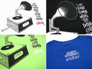 STUSSY(ステューシー)×GILBERTHERNANDEZOldTurntableS/STeeGILBERTHERNANDEZ