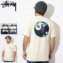ステューシー STUSSY Tシャツ 半袖 メンズ Mystic 8 Ball(stussy tee ティーシャツ T-SHIRTS カットソー トップス メンズ・男性用 1904305 USAモデル 正規 品 ストゥーシー スチューシー)[M便 1/1] ice filed icefield